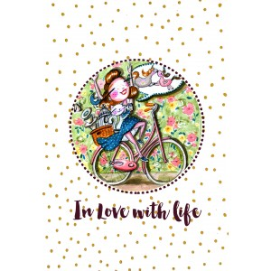 "Felicitare ilustrata ""In love with life"", Choofi"