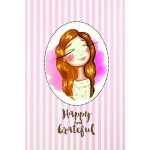 """Felicitare ilustrata Fericita """"Happy and grateful"""", Choofi"""