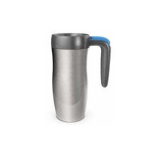 Randolph Stainless Handled travel mug (stainless steel/blue) (470ml)