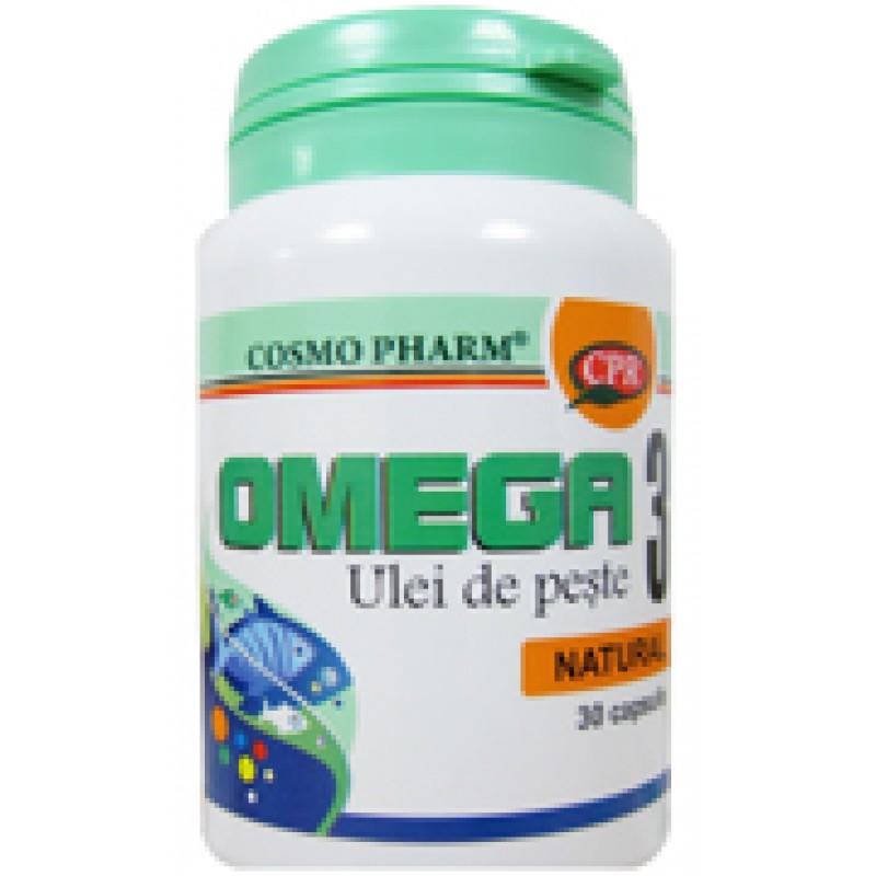 Omega 3 ulei de peste (30 capsule), Cosmopharm