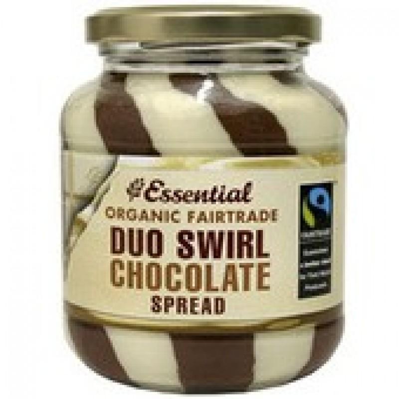 Crema tartinabila cu ciocolata duo swirl bio fairtrade (400g), Essential