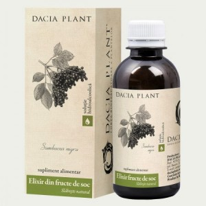 Elixir din fructe de soc tinctura (200ml), Dacia Plant