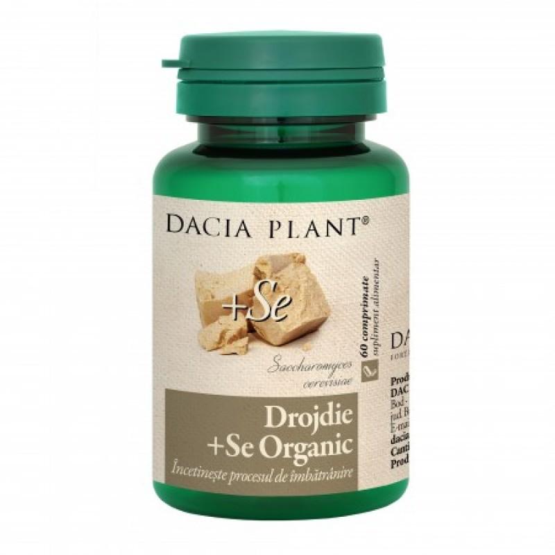 Drojdie cu Seleniu Organic (60 comprimate), Dacia Plant