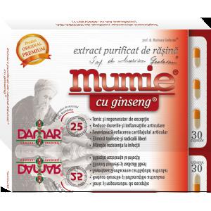 Mumie cu ginseng (30 capsule), Damar