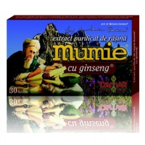 Mumie cu ginseng (30 tablete), Damar