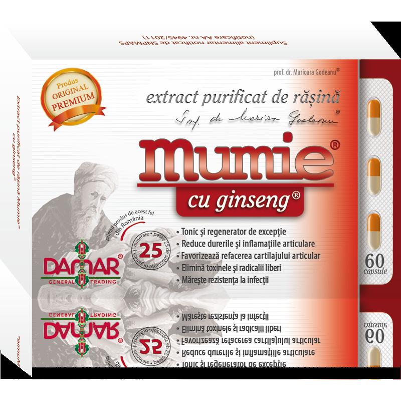 Mumie cu ginseng (60 capsule), Damar