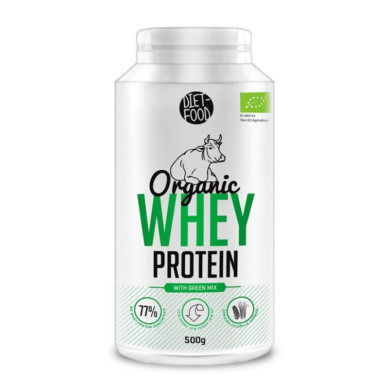 Bio Proteina din zer + green mix + stevia (500g), Diet Food