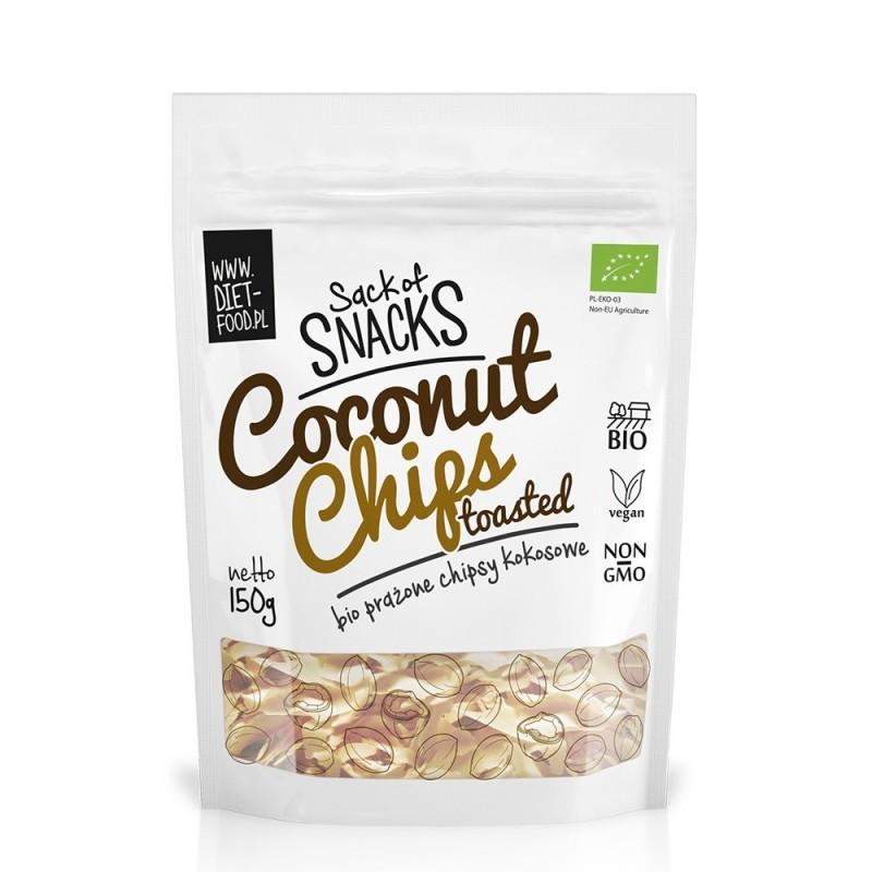 Chipsuri bio prajite din cocos (150g), Diet Food