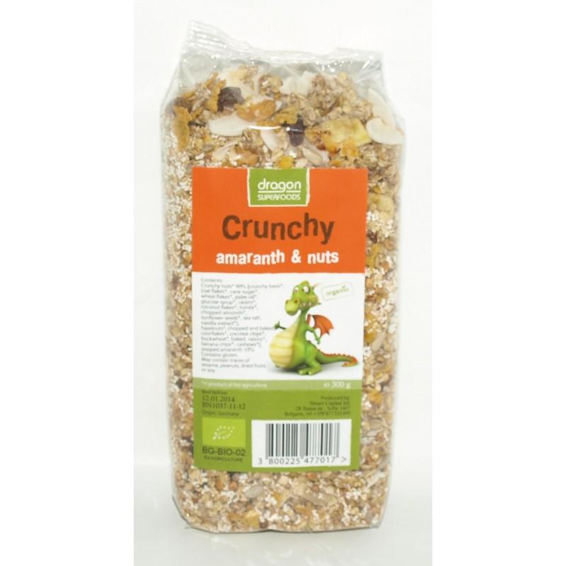 Crunchy cu amaranth si nuci bio (300g), Dragon Superfoods