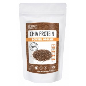 Chia pudra proteica raw bio (200g), Dragon Superfoods