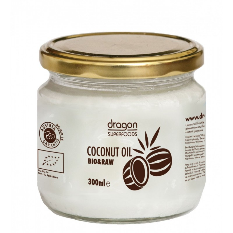 Ulei de cocos virgin bio presat la rece (300ml), Dragon Superfoods