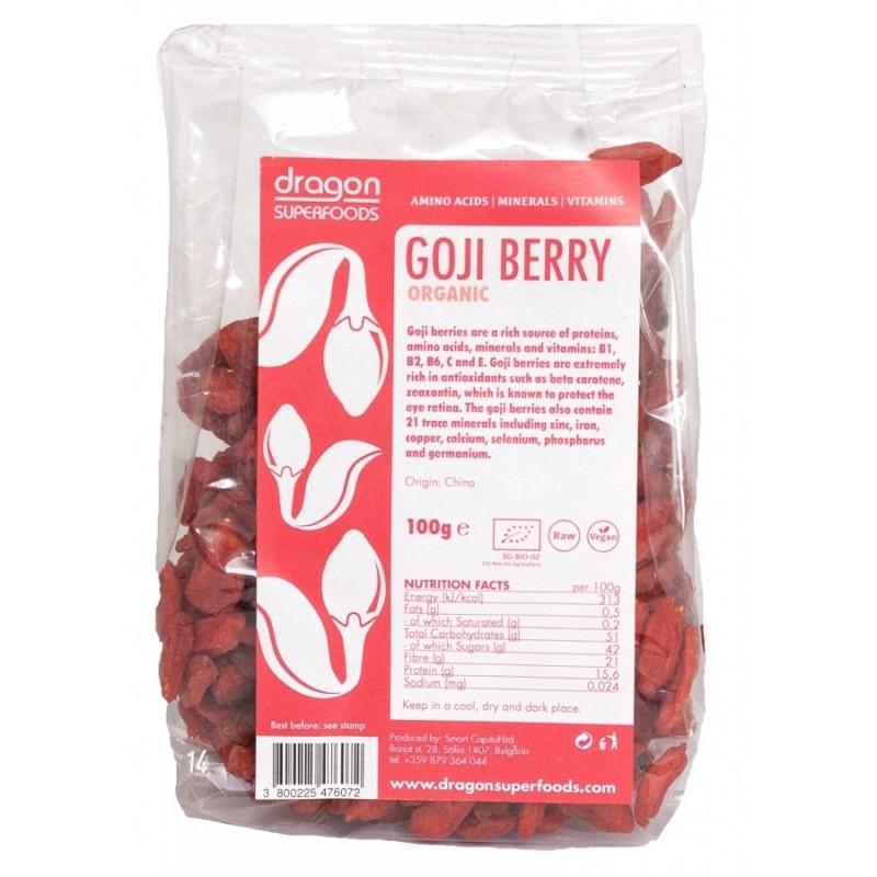Goji berries raw bio (100g) Dragon Superfoods