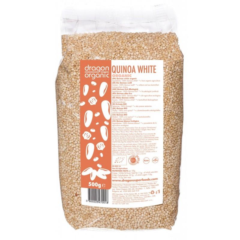 Quinoa alba bio (500g), Dragon Superfoods