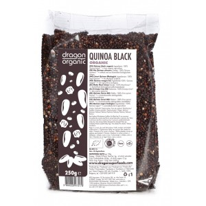 Quinoa neagra bio (250g), Dragon Superfoods
