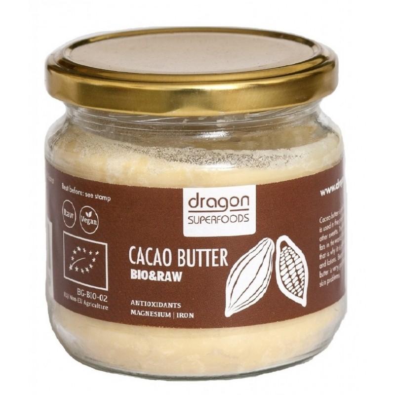 Unt de cacao raw criollo bio (300g), Dragon Superfoods
