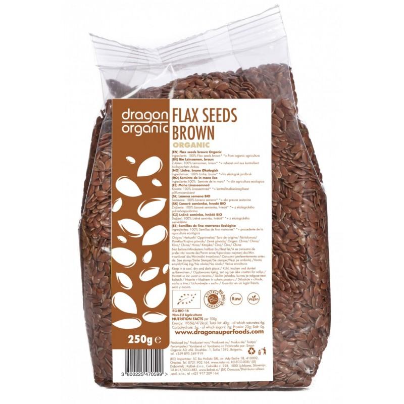 Seminte de in maro bio (250g), Dragon Superfoods