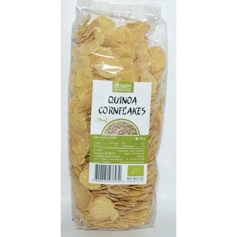 Fulgi de porumb cu quinoa bio (150g), Dragon Superfoods