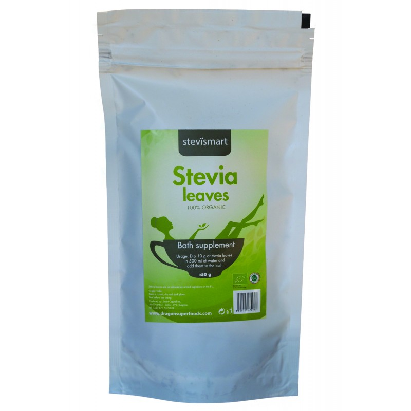 Frunze de stevia bio (50g), Dragon Superfoods