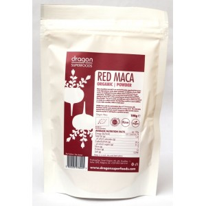 Maca rosie pudra raw bio (100 grame), Dragon Superfoods