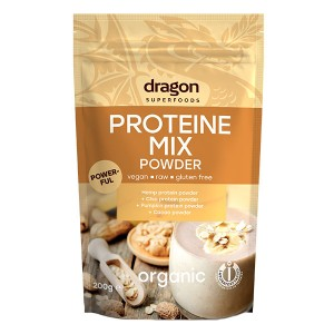 Mix proteic raw bio (200 grame), Dragon Superfoods