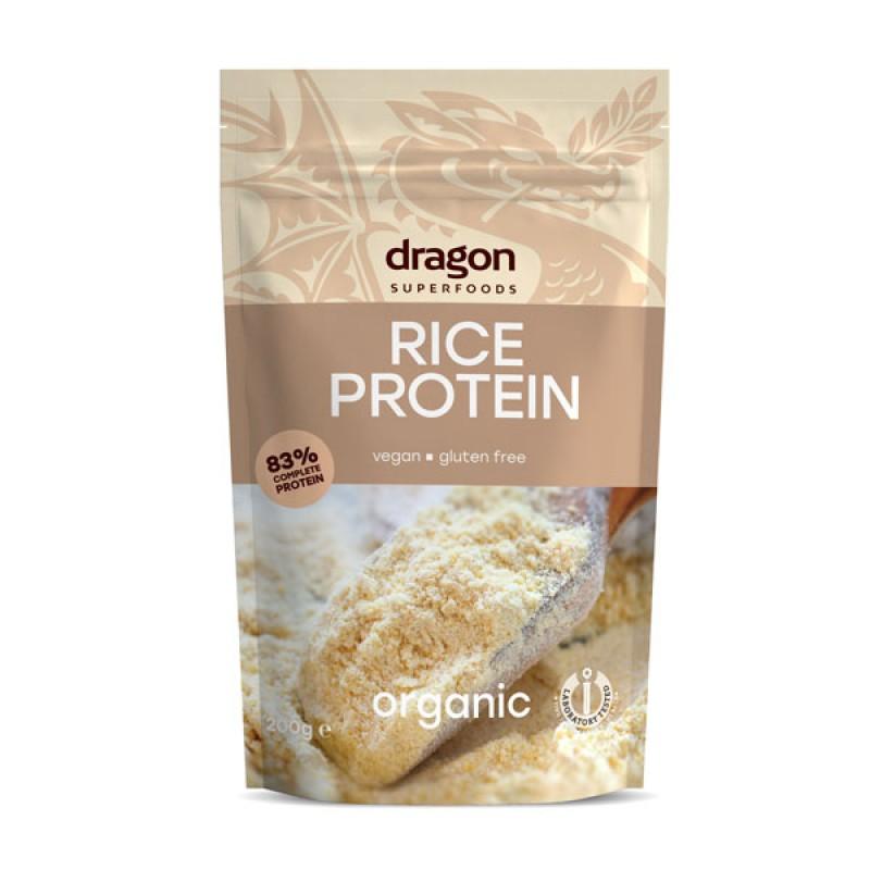Pudra proteica din orez bio (200g), Dragon Superfoods
