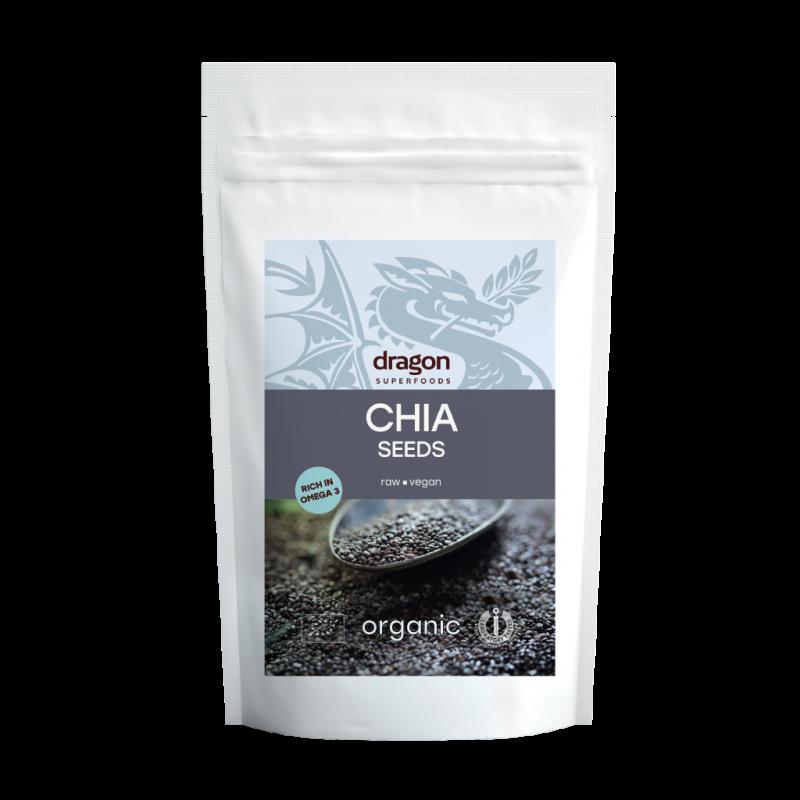 Seminte de chia raw bio (500g), Dragon Superfoods