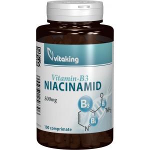 Vitamina B3 (niacinamida) 500mg (100 comprimate), Vitaking