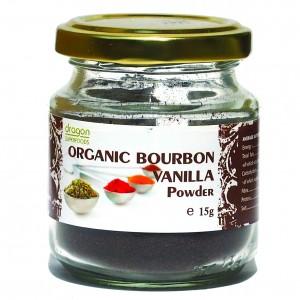 Vanilie pudra bio (15 grame), Dragon Superfoods