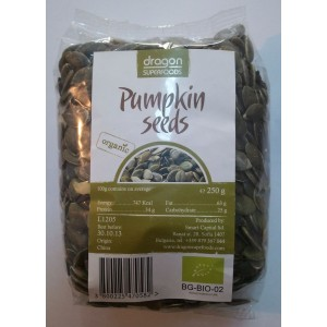 Seminte de dovleac raw bio (250g), Dragon Superfoods