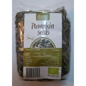Seminte de dovleac raw bio (250g), Dragon Superfoods