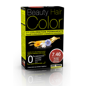 Beauty Hair -  Vopsea de par 7.46 Blond Roscat Intens, Eric Favre