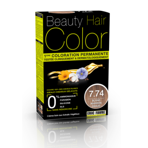 Beauty Hair - Vopsea de par 7.74 Blond Maron Cald, Eric Favre