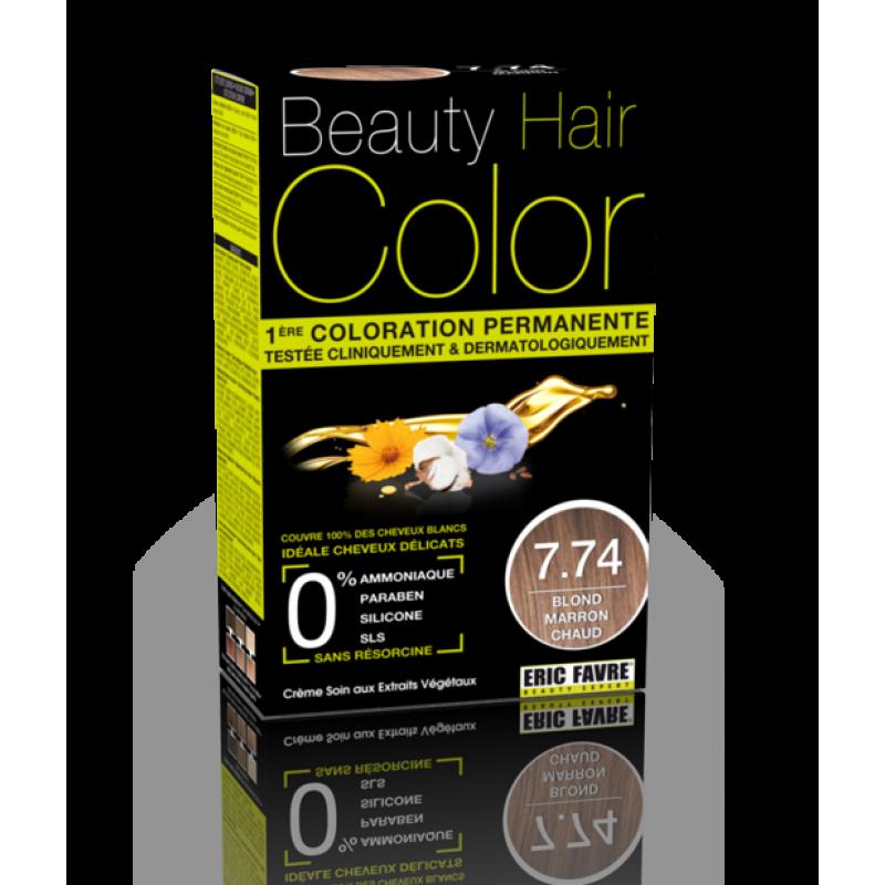 Beauty Hair - Vopsea de par 7.74 Blond Maron Cald, Eric Favre