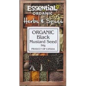 Boabe de mustar negru bio (50g), Essential