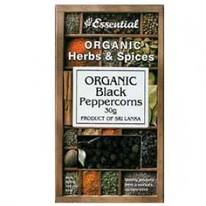 Boabe de piper negru bio (30g), Essential