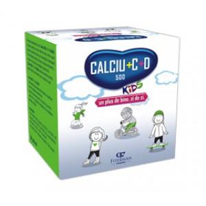 Calciu 500 + C + D Kids (20 plicuri), Fiterman