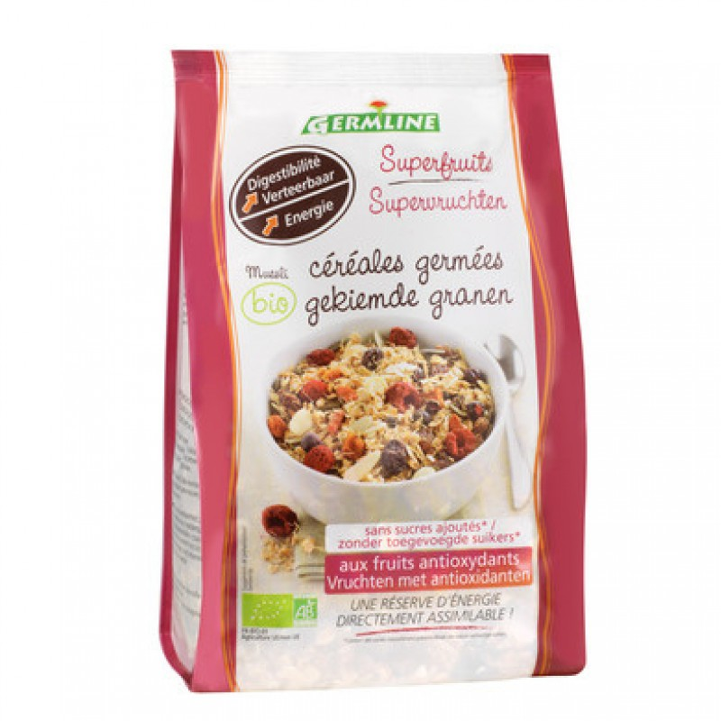 Musli din cereale germinate cu superfructe bio (350 grame), Germline