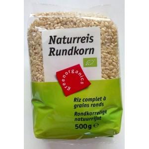Orez brun cu bob rotund bio (500g), GreenOrganics