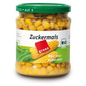 Boabe de porumb dulce la borcan bio (330 grame), Green Organics