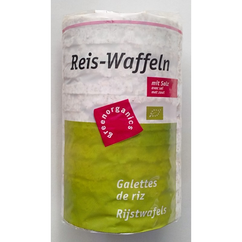 Rondele de orez integral expandat fara sare de bio (100 grame), Green Organics