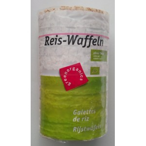 Rondele din orez expandat fara sare bio (100 greame), Green Organics