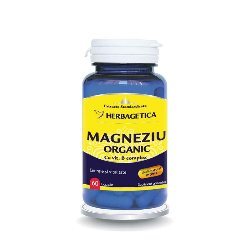 Magneziu Organic (60 capsule), Herbagetica
