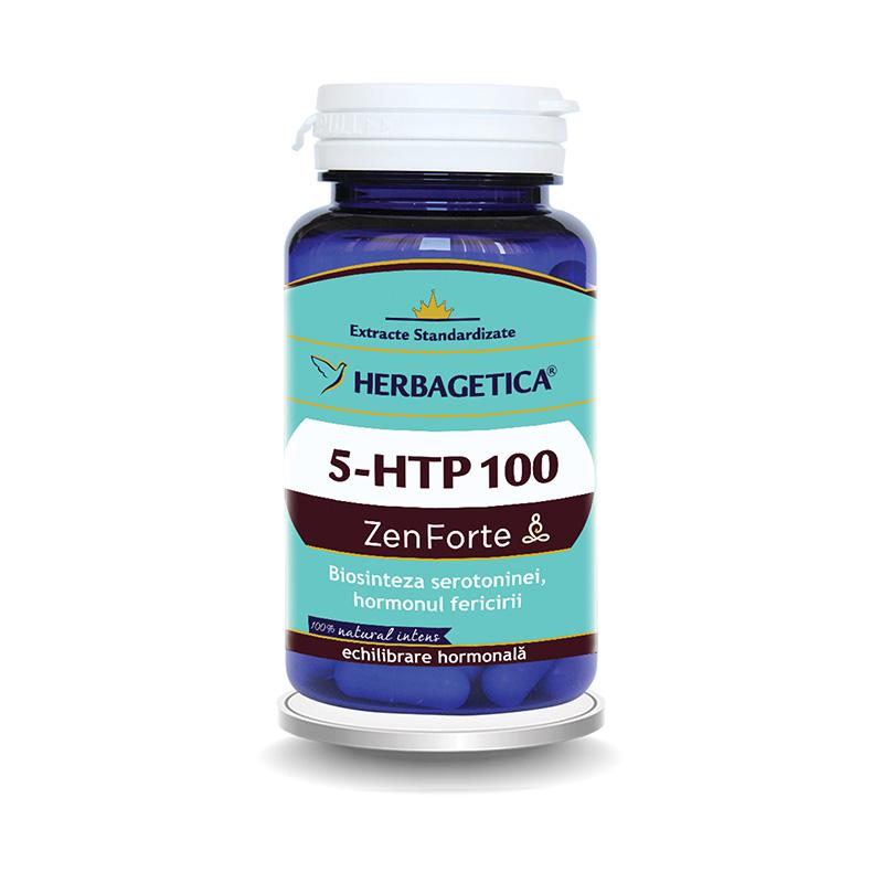 5 HTP 100 Zen Forte (30 capsule), Herbagetica