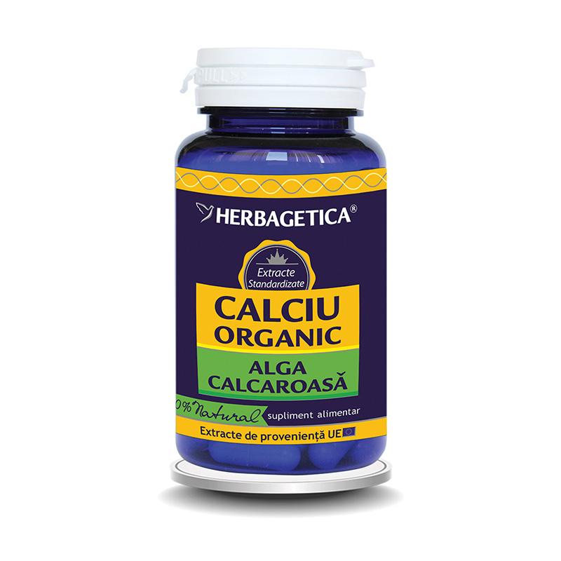 Calciu Organic alga calcaroasa (30 capsule), Herbagetica