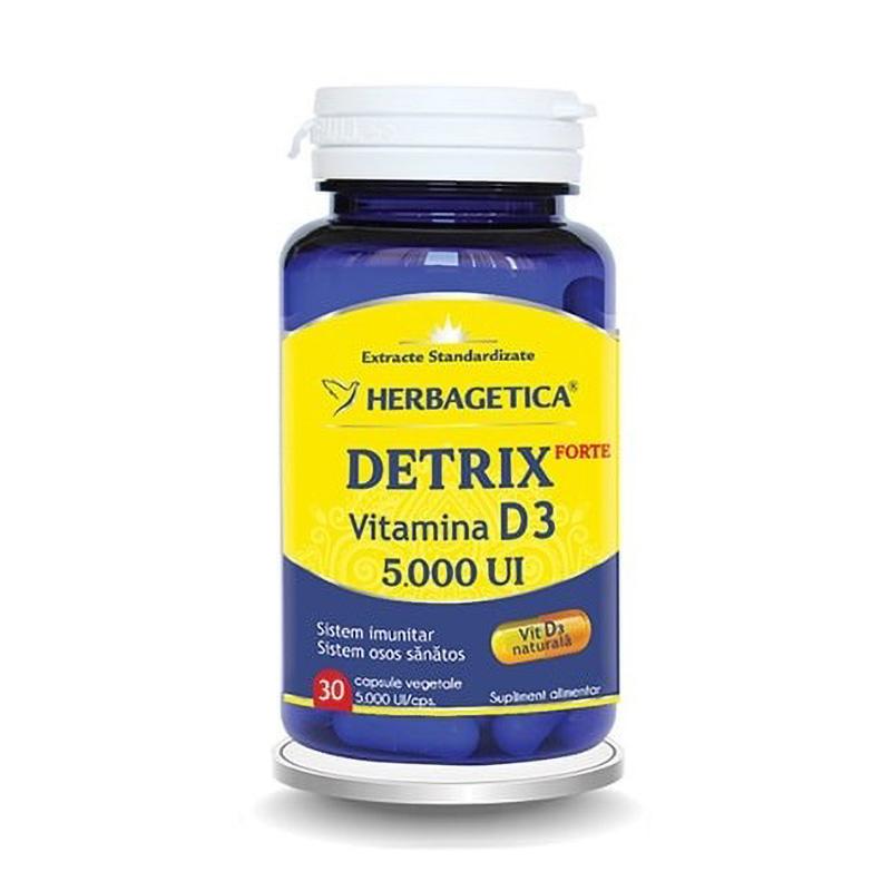 Detrix Forte Vitamina D3 5000 UI (30 capsule), Herbagetica