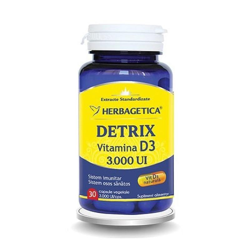Detrix Vitamina D3 3000 UI (30 capsule), Herbagetica