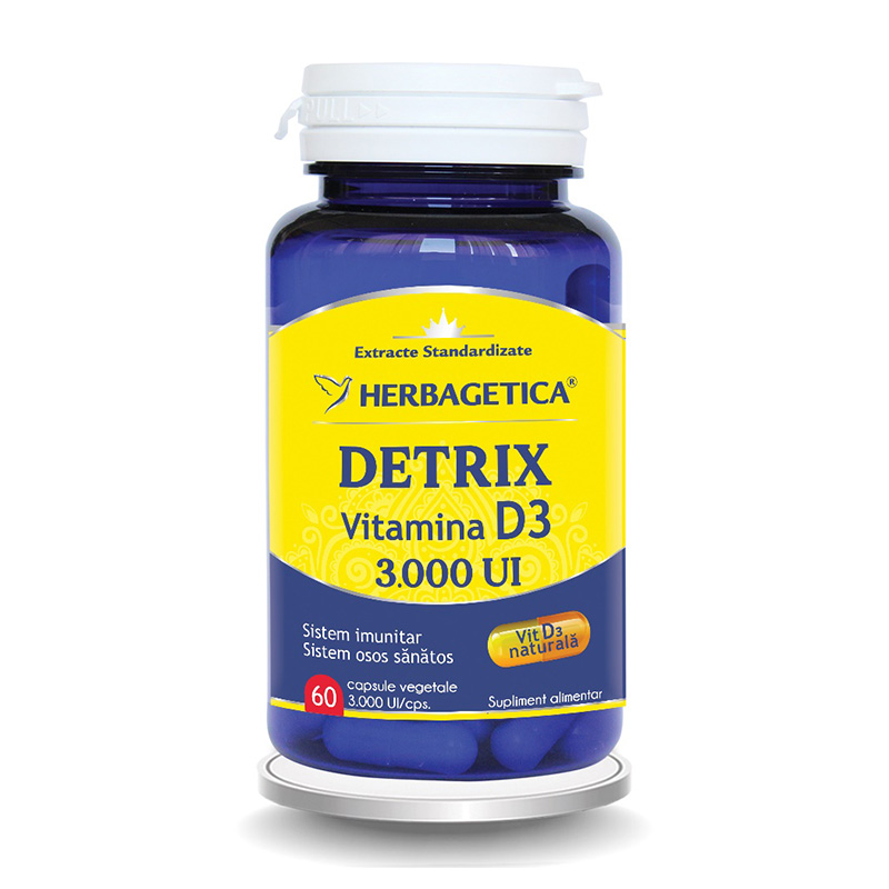 Detrix Vitamina D3 3000 UI (60 capsule), Herbagetica