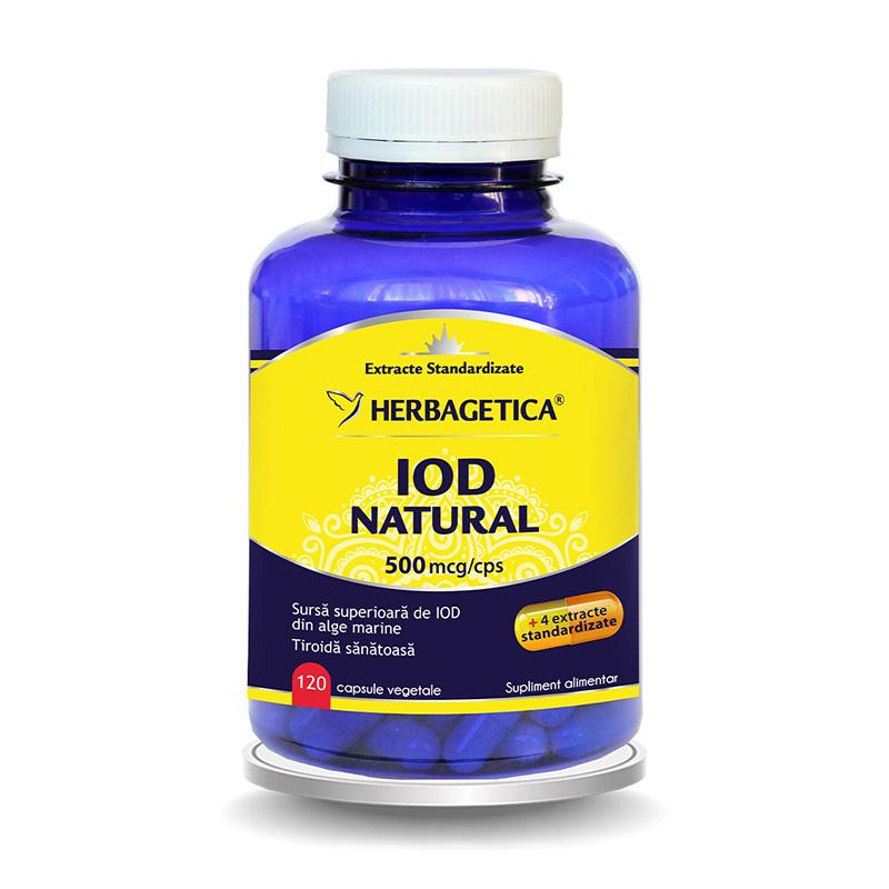 Iod Natural (120 capsule), Herbagetica
