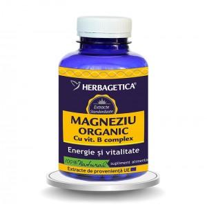 Magneziu Organic (120 capsule), Herbagetica