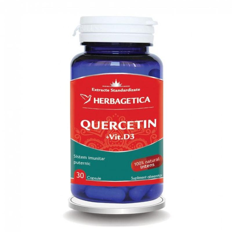 Quercetin + Vitamina D3 (30 capsule), Herbagetica
